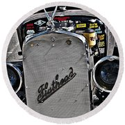1930 Flathead Rat Rod  Round Beach Towel