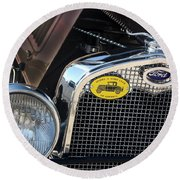 1930 Ford Model A - Front End - 7497 Round Beach Towel