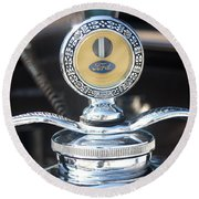1930 Ford Model A - Hood Ornament - 7488 Round Beach Towel