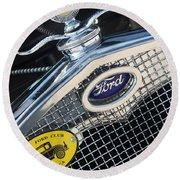 1930 Ford Model A - Radiator N Grill - 7479 Round Beach Towel