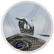 1930 Ford Model A Round Beach Towel
