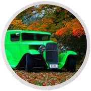 1930 Ford Sedan Delivery Truck  Round Beach Towel