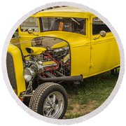 1930 Model A Coupe Round Beach Towel