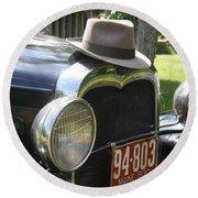 1930 Model-a Town Car 2 Round Beach Towel