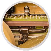 1930 Packard Speedster Runabout Engine -0539c Round Beach Towel