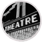 1930s 1940s Theater Marquee Theatre Round Beach Towel