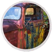 1930s Pickup Truck Round Beach Towel