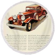 1931 - Packard - Advertisement - Color Round Beach Towel