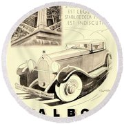1931 - Talbot French Automobile Advertisement Round Beach Towel