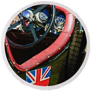 1931 Bentley 4.5 Liter Supercharged Le Mans Steering Wheel -1255c Round Beach Towel