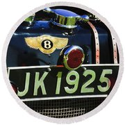 1931 Bentley 4.5 Liter Supercharged Le Mans Taillight Emblem Round Beach Towel