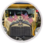 1931 Ford Model-a Car Round Beach Towel