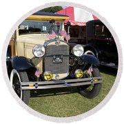 1931 Ford Model-a Car Round Beach Towel