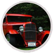 1931 Ford Panel Delivery Truck  Round Beach Towel
