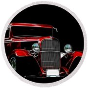 1931 Ford Panel Truck 2 Round Beach Towel