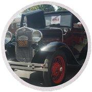 1931 Ford Sedan Round Beach Towel