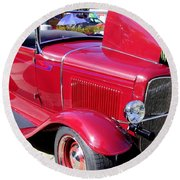 1931 Ford With Rumble Seat Round Beach Towel