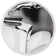 1931 Lincoln K Hood Ornament -1837bw Round Beach Towel