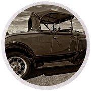 1931 Model T Ford Monochrome Round Beach Towel by Steve Harrington