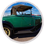 1931 Model T Ford Round Beach Towel by Steve Harrington