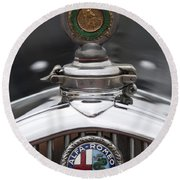 1932 Alfa-romeo Hood Ornament 2 Round Beach Towel