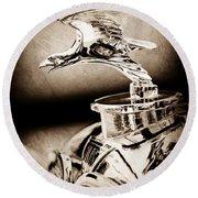 1932 Alvis Hood Ornament - Emblem Round Beach Towel