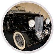1932 Auburn Boattail Speedster Round Beach Towel