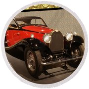 1932 Bugatti - Featured In 'comfortable Art' Group Round Beach Towel