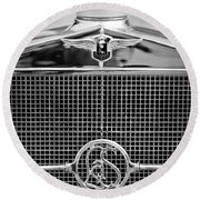 1932 Cadillac Lasalle Grille Emblem Round Beach Towel