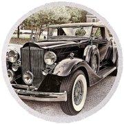 1932 Packard 903 Victoria Round Beach Towel