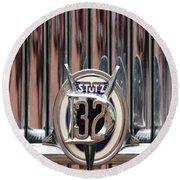 1932 Stutz Dv-32 Super Bearcat Emblem Round Beach Towel by Jill Reger