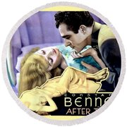 1933 - After Tonight Motion Picture Poster - Constance Bennet - Gilbert Roland - Color Round Beach Towel