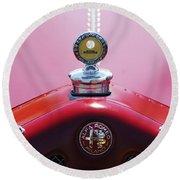 1933 Alfa Romeo P-2 Monza Hood Ornament Round Beach Towel