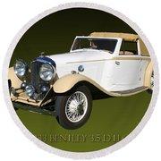 1933 Bentley 3  5  Liter Drop Head Coupe Round Beach Towel