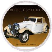 Bentley Derby D H C  Round Beach Towel