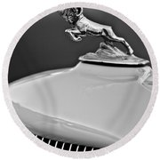 1933 Dodge Ram Hood Ornament 2 Round Beach Towel