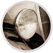 1933 Ford Coupe Hot Rod Round Beach Towel