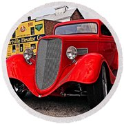 1933 Ford Coupe Round Beach Towel