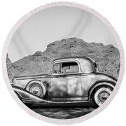 1933 Pontiac -0008bw Round Beach Towel