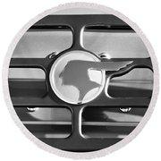1933 Pontiac Emblem -0467bw Round Beach Towel