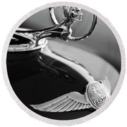 1933 Pontiac Hood Ornament 4 Round Beach Towel