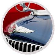 1933 Pontiac Street Rod Hood Ornament Round Beach Towel