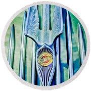 1934 Chrysler Airflow Hood Ornament 2 Round Beach Towel