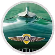 1934 Dodge Hood Ornament Emblem Round Beach Towel by Jill Reger