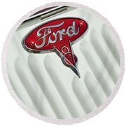 1934 Ford Emblem Round Beach Towel