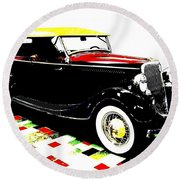 1934 Ford Phaeton V8  Round Beach Towel
