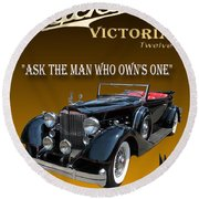 1934 Packard Round Beach Towel