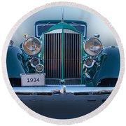 1934 Packard Super 8 Round Beach Towel