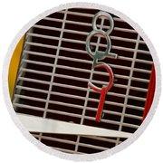 1935 Auburn 851 Cabriolet Grille Emblem Round Beach Towel