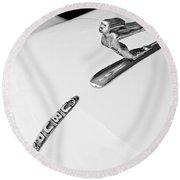 1935 Auburn Boattail Speedster Hood Ornament Round Beach Towel